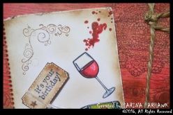 Wine Bottle and Glass Card 11