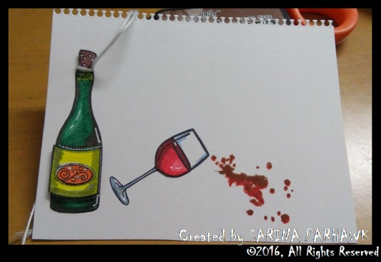 Wine Bottle and Glass Card 3