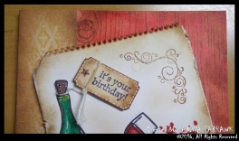 Wine Bottle and Glass Card 8